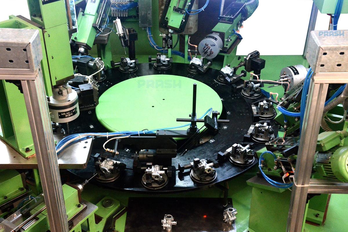 Sixteen Stations Rotary Indexing Machining Machine