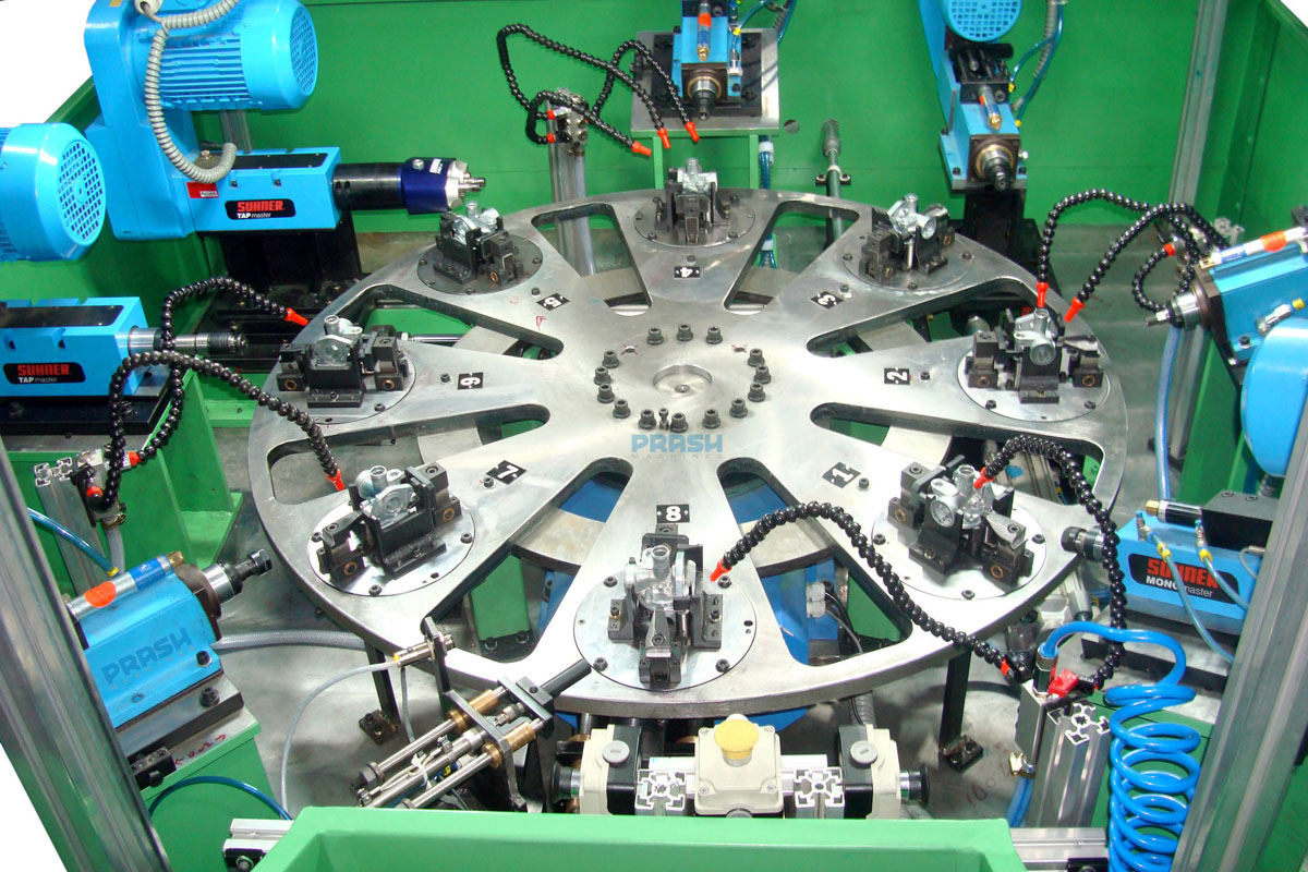 Eight Station Rotary Indexing Drilling Tapping Reaming Machine