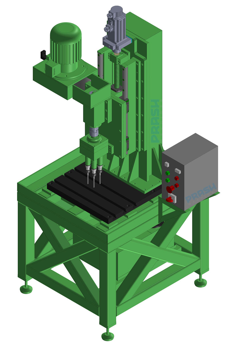 Auto Feed Multi Spindle Drilling Machine-Servo Slide Type