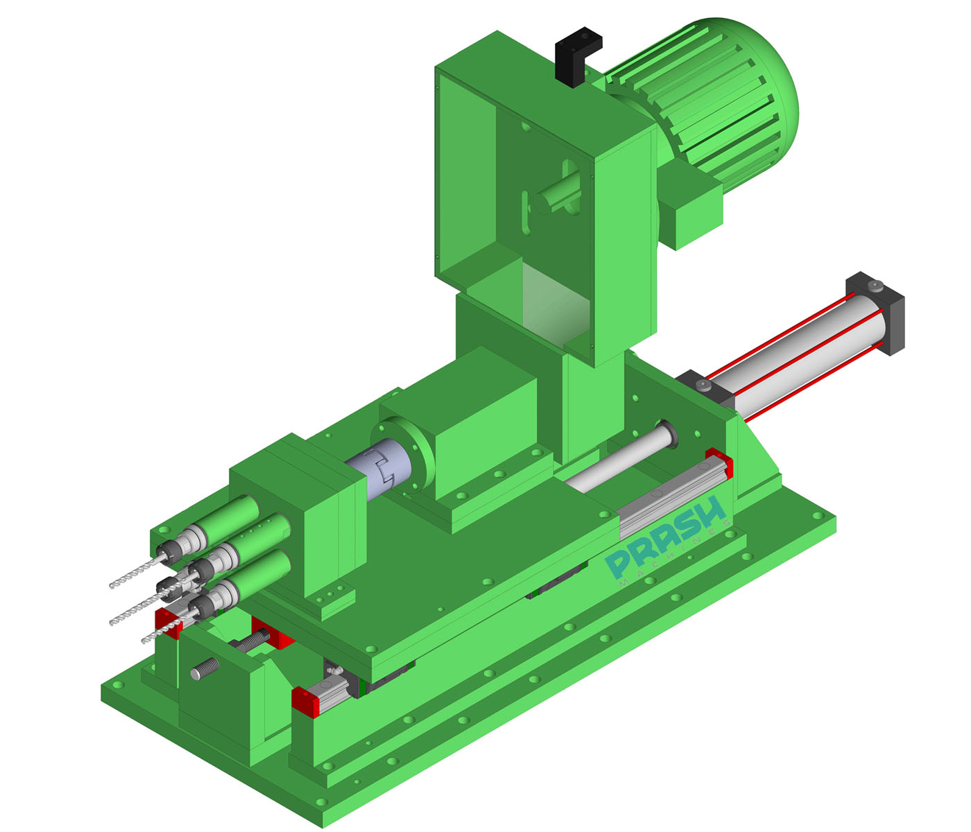 Auto Feed Multi Spindle Drilling Head-Hydraulic Slide Type