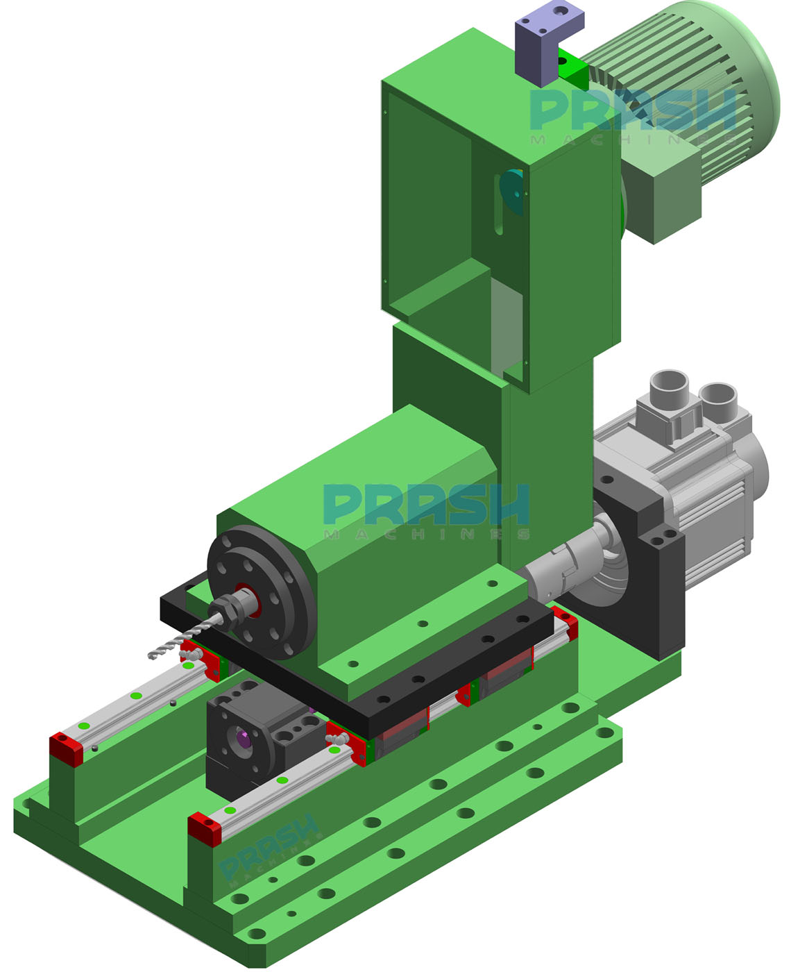 Auto Feed Head Drilling Head-Servo Slide Type