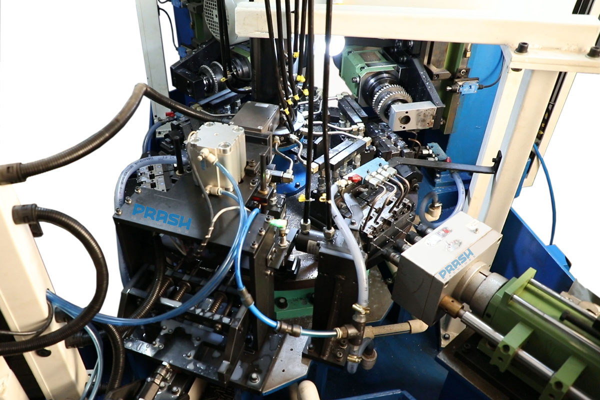 Six Station Rotary Indexing Drilling Grooving Machine