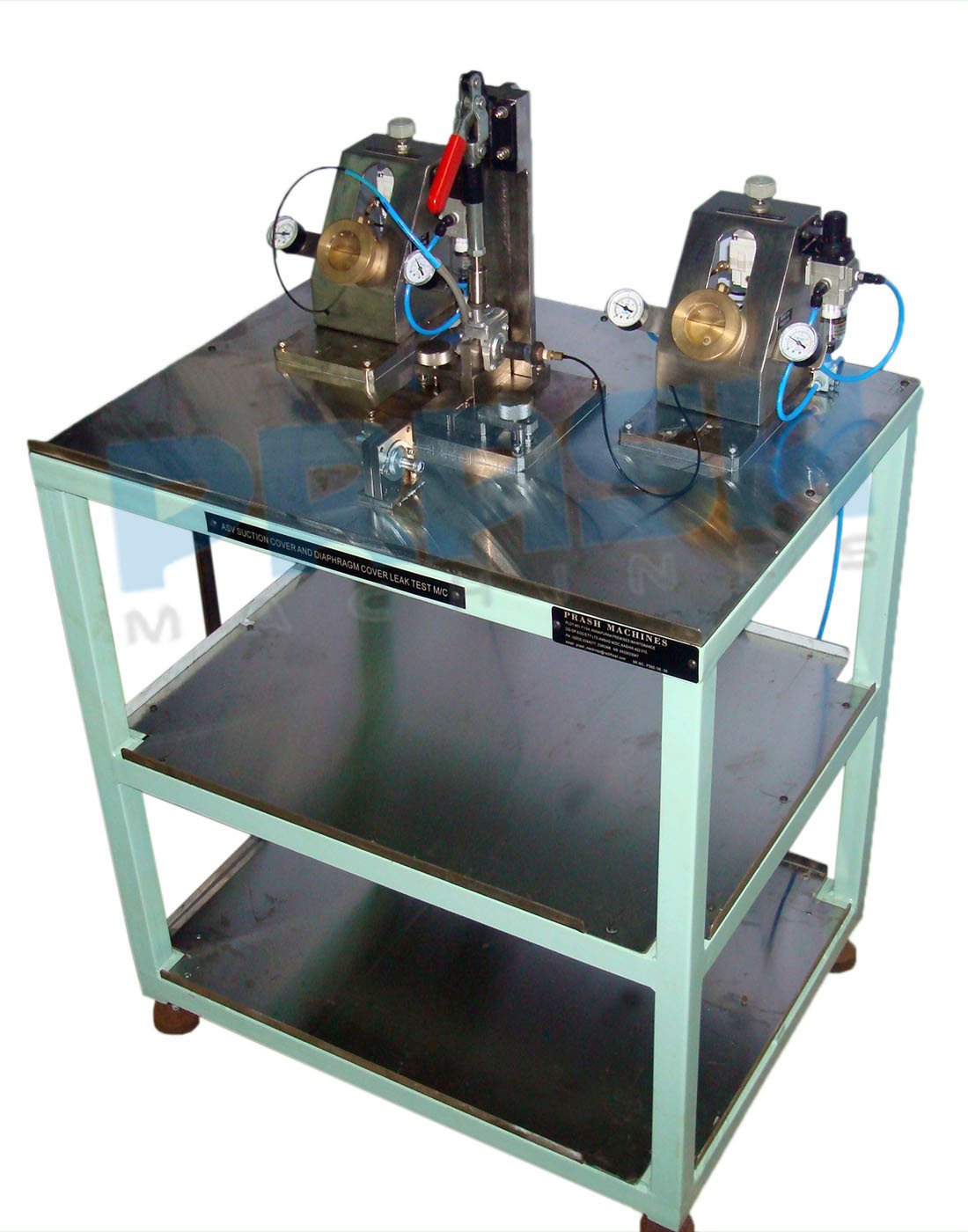 Dry Bubble Leak Test Stand